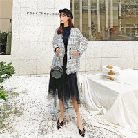 七格格半身裙2019新款冬季中长款遮胯裙子显瘦高腰黑色网纱蓬蓬裙