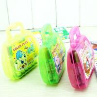�W�用品 文化用品 12色水彩�P 卡通盒�b水彩�P文具