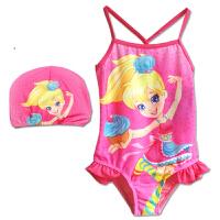 时尚女童连体游泳衣儿童冲浪泳衣双肩带连体泳衣含泳帽 潮 可礼品卡支付