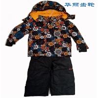 大小男童滑雪服衣裤套装/高防水寒耐磨保暖男儿童厚雪服衣裤