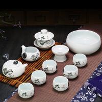 创意雪花釉陶瓷 功夫茶具套装家用 茶壶茶杯套装 整套茶具 7件