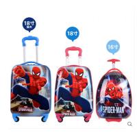 七夕礼物变形金刚儿童拉杆箱大黄蜂旅行箱男孩行李箱宝宝拖拉箱万向轮18寸 蜘蛛侠 20寸【适合7岁以上用】