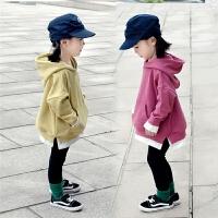 女童装加绒加厚纯棉卫衣春秋冬小女孩宝宝儿童连帽外套潮