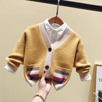 男女童针织开衫秋冬毛衣外套婴儿童毛线衣小童