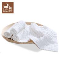 宝宝方巾口水巾纱布婴儿洗脸巾软小手帕手绢