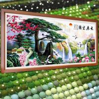 迎客松5D水晶钻石画贴画满钻砖石秀风景点粘钻十字绣新款客厅山水 图片色