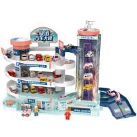 汽车大楼电动轨道停车场儿童益智玩具3-6周2三四岁小男孩生日礼物