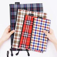 创易A4格子布袋文件袋帆布办公学生文具用品收纳袋资料袋小清新