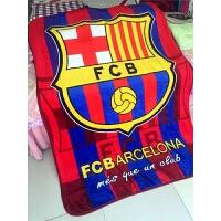 巴萨皇马切尔西足球毛毯子床单夏季午睡毯夏季单人办公室空调毯子定制 50cmX00cm