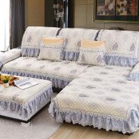 雪尼尔提花沙发垫 家居四季全盖四季防滑简约现代皮通用套罩巾
