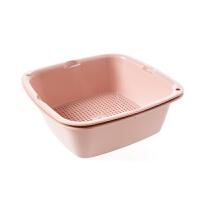 方形双层洗菜盆厨房水果沥水篮家用水果篮蔬菜洗菜篮子塑料沥水盆