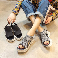 韩版百搭女士凉鞋 新款休闲运动厚底凉鞋 ins潮欧洲站袜子凉鞋女