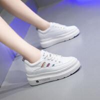 户外板鞋女韩版内增高小白鞋女百搭厚底运动休闲鞋女潮鞋