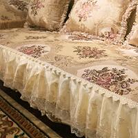 家纺2017秋冬新款沙发套欧式沙发垫皮沙发坐垫布艺四季通用组合三件套罩