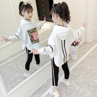 女童套装春装2019新款春秋超洋气春季运动卫衣潮衣两件套