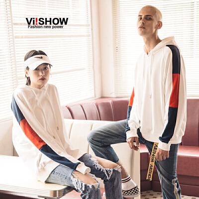 VIISHOW2018春季新款卫衣男 套头连帽男士外套 情侣装上衣韩版潮满199减20 满299减30 满499减60 全场包邮