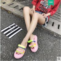 沙滩凉拖鞋女户外新品网红同款新款可爱ins潮海边外穿时尚可湿水厚底