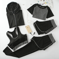 瑜伽服运动套装女秋冬款宽松跑步短裤速干衣专业健身房运动服女装