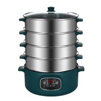 电蒸锅多功能家用大容量预约定时三层电蒸笼多层蒸馒头蒸煮锅智能kb6