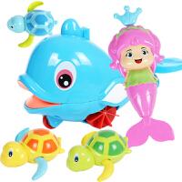 儿童洗澡玩具宝宝婴幼儿童男女孩6个月浴室喷水玩具动物发条玩具