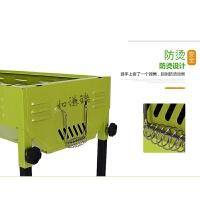 20180923223602929户外烧烤炉家用木炭5人以上野外折叠碳烤工具全套不锈钢烧烤架子