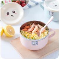 创意不锈钢泡面碗卡通可爱方便面碗家用餐具