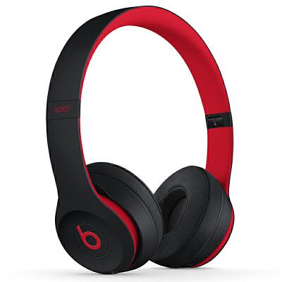 【当当自营】Beats Solo3 Wireless 头戴式 蓝牙无线耳机 手机耳机 游戏耳机 - 桀骜黑红(十周年版) MRQC2PA/A Beats头戴无线_轻巧便携_颈挂无压力