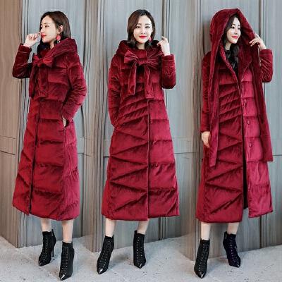 羽绒服 新品女棉衣女长款过膝2018冬装新款时尚韩版加厚棉袄羽绒外套 一般在付款后3-90天左右发货,具体发货时间请以与客服协商的时间为准