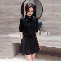 2017年秋季时尚显瘦优雅韩版长袖潮流衬衫