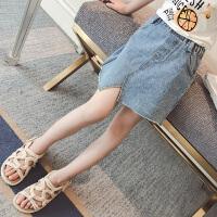 童装女童夏装牛仔半身裙儿童夏季短裙中大童裙子