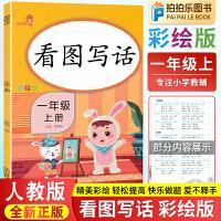 看图写话一年级上册 2021新版部编人教版语文练习册彩绘版
