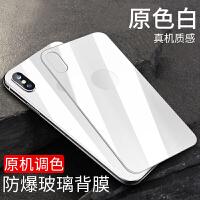 适用于iPhonex镜头膜iPhone x钢化膜苹果x背膜摄像头保护圈后膜10手机膜