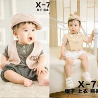 儿童摄影服装新款影楼照相服饰2岁男款宝宝摄影拍照服装套装