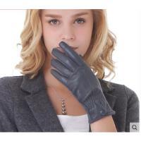 简约全指舒适女士手套兔羊毛分指开车骑行保暖手套