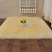 长毛绒地毯卧室床边客厅沙发用飘窗地垫仿羊毛满铺可爱圆形