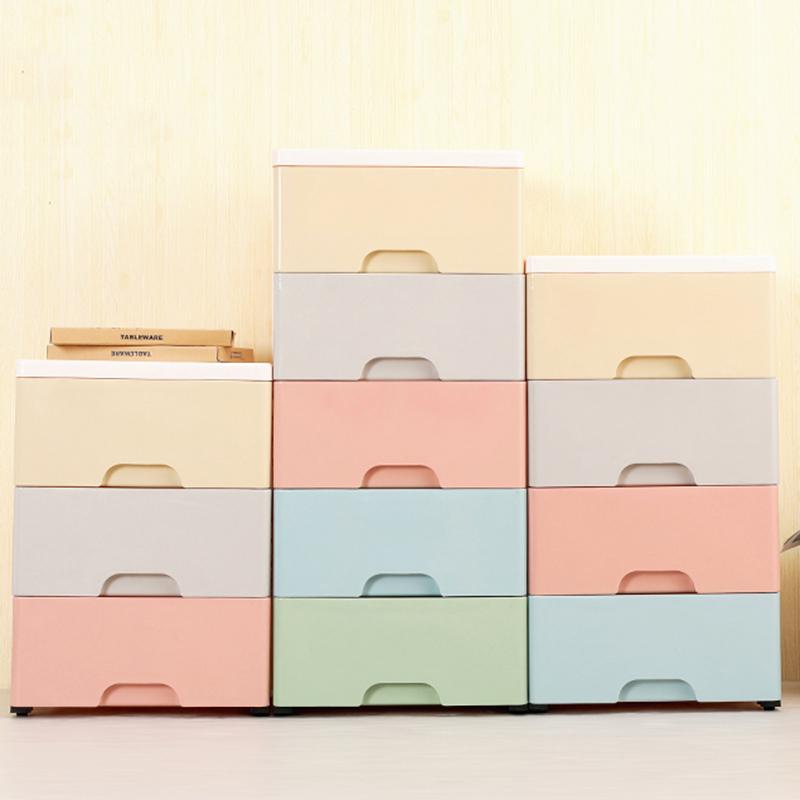 塑料收纳盒 特大号加厚抽屉式收纳箱盒2020新款塑料衣柜收纳柜子儿童衣服储物箱整理箱 特大号加厚抽屉式收纳箱盒