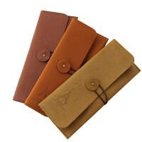 创意文具 复古优雅 铁塔绒皮笔袋/笔盒/收纳袋 松紧绑带设计,方便使用,也可以作为收纳袋,容量适中,方便出国留学携带。