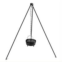 铸铁烧烤三角架 三脚架 便携式三角架 户外烧烤三角架 吊锅支架