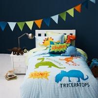 男童床品棉四件套 棉套件儿童被套床单三件套 恐龙游乐园 其它