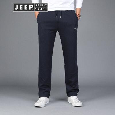 吉普JEEP运动裤男卫裤男士裤子春秋长裤休闲裤