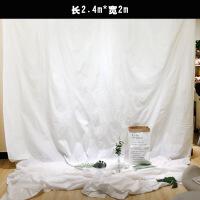 网红拍照道具 ins风纯白色拍照背景布简约北欧摄影挂墙布 网红直播拍摄道具装饰