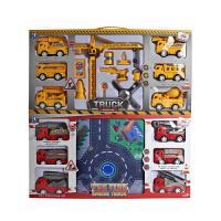工程车玩具套装回力挖掘机推土机大号吊车消防车玩具汽车