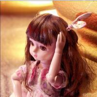 会说话的洋娃娃智能对话儿童玩具3-6-8岁女孩仿真布娃娃公主换装 1qw