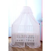 婴儿床:雪纺双层遮光帘蚊帐【含落地蚊帐支架】现货