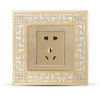 中式开关贴墙贴插座面板装饰中国风古典客厅卧室开关墙贴保护套