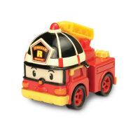 儿童节礼物益智玩具Silverlit银辉 Poli系列合金版警车珀利海利机器人玩具 男孩女孩 罗伊消防车 83161