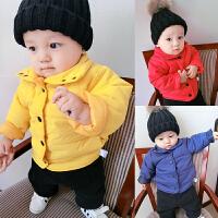 女婴儿衣服秋装外套装1岁0男宝宝加厚保暖秋冬装