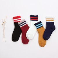 珈楚 春秋新款三杠儿童袜 全棉儿童学院风袜子 运动风袜男童女童袜