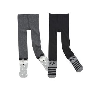 秋冬舒适棉纶弹力卡通加厚连体裤袜