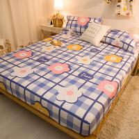 纯棉床笠席梦思床垫保护套防尘罩1.5米1.8m床单件全棉床罩